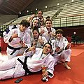 L'equipe feminime du bms-judo qualifiee pour le championnat de france premiere division